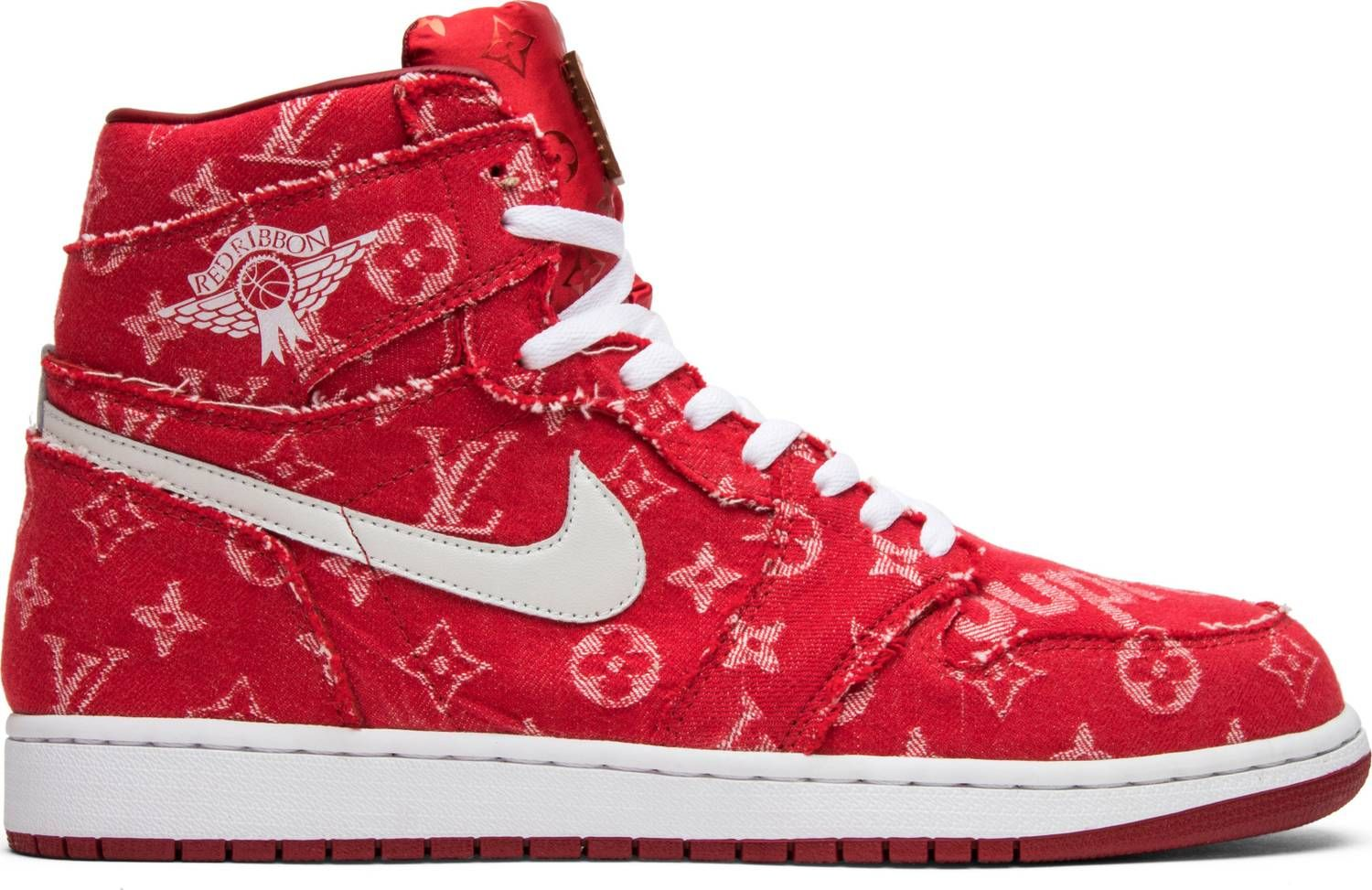 best service b1c20 95502 Air Jordan Supreme x Louis Vuitton x Red Ribbon Recon x Air Jordan 1 Retro  High
