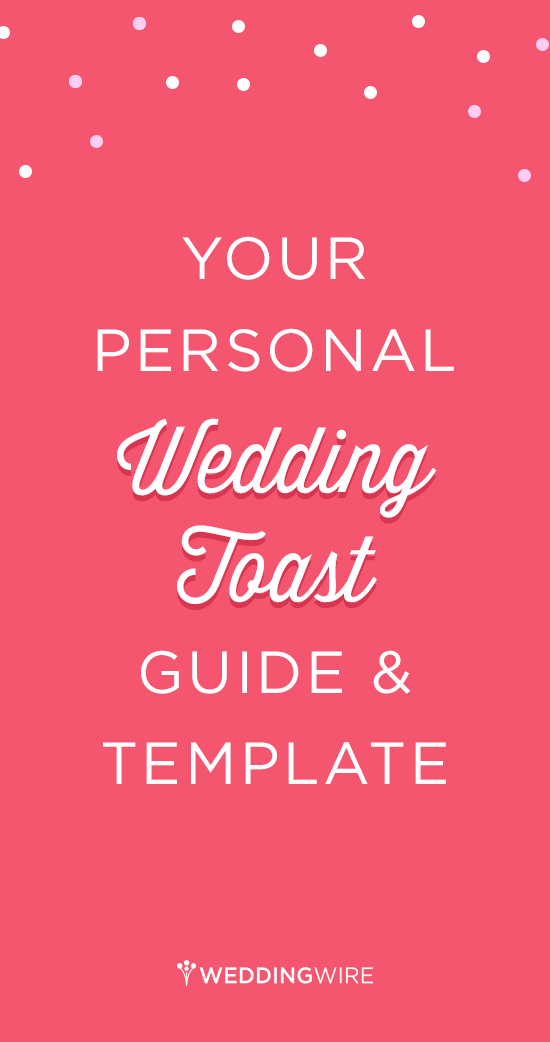 Your GoTo Wedding Toast Template  Wedding Toasts Template And