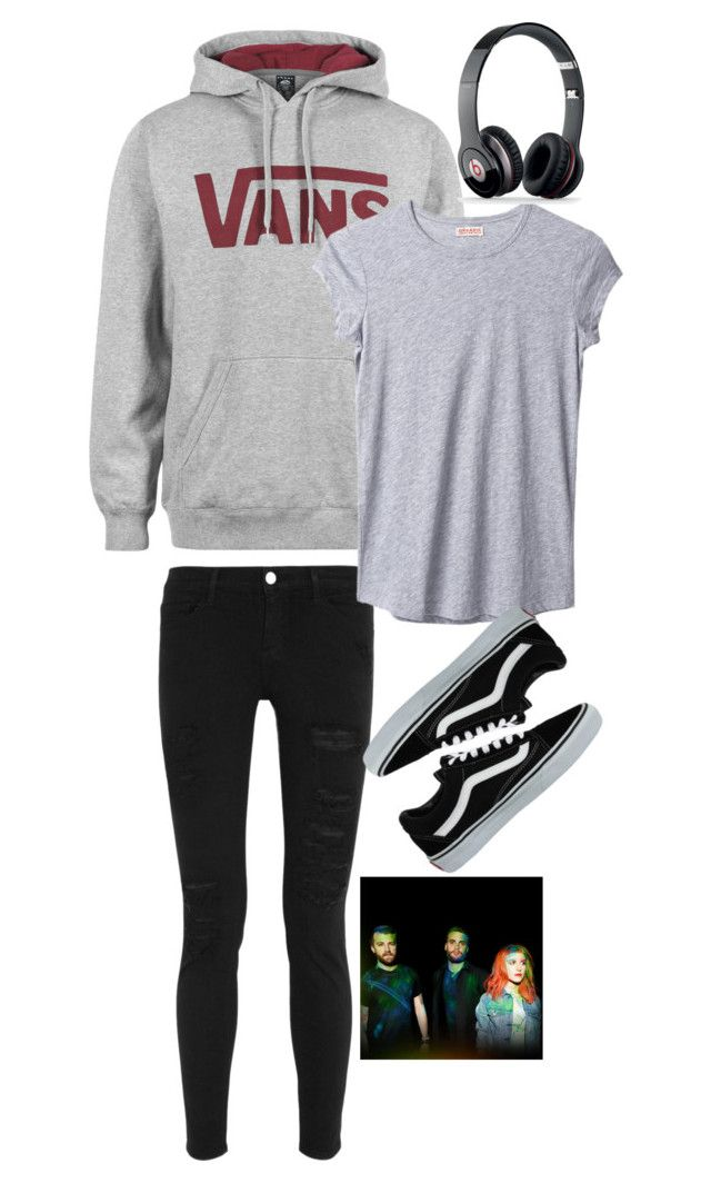 """""""Ain't It Fun."""" by sweet21sorrow ❤ liked on Polyvore featuring Vans, Frame Denim, Organic by John Patrick and Beats by Dr. Dre"""