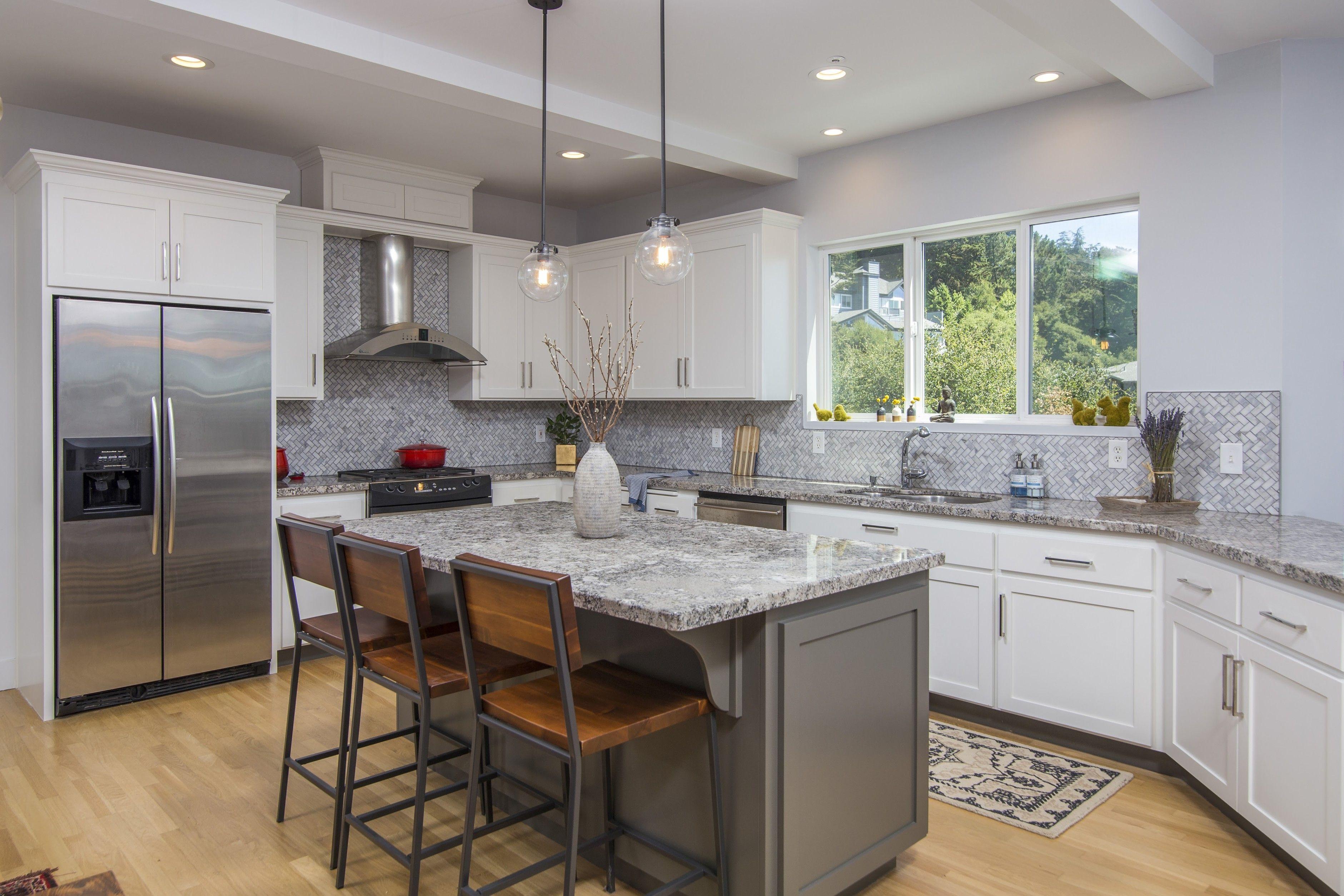 kitchen island gray with wood barstools grey kitchen island house interior wood bar stools on kitchen interior grey wood id=78802