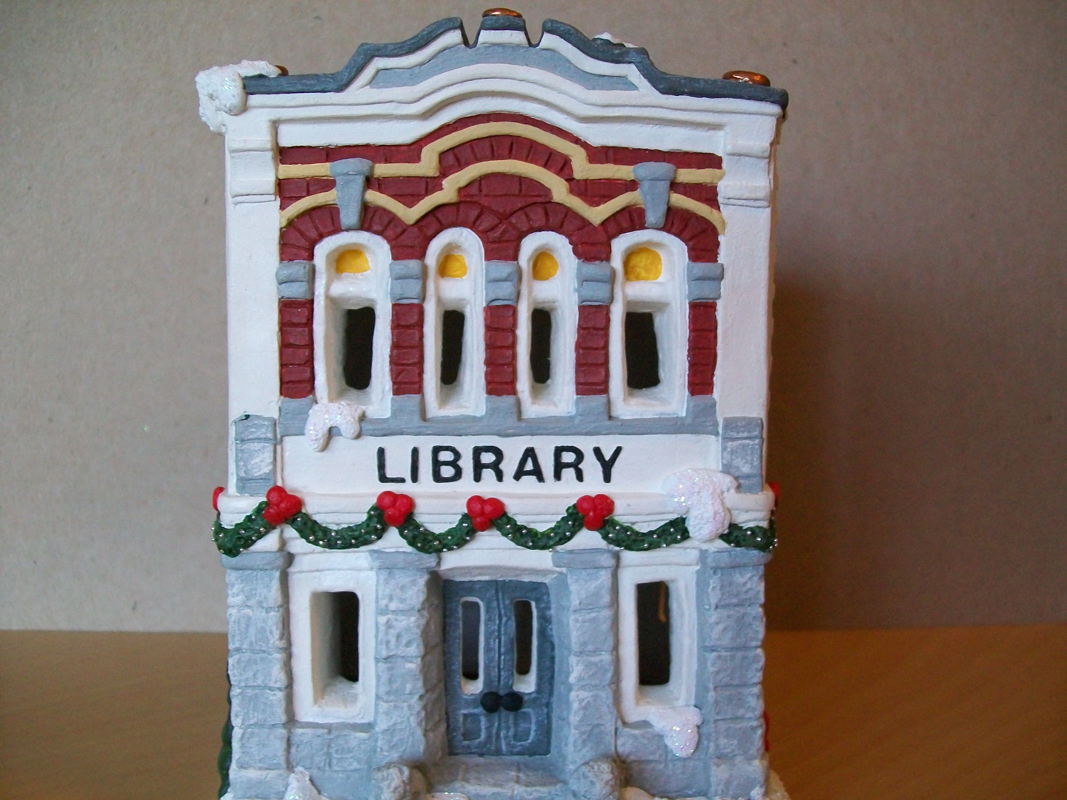 Ceramic christmas houses to paint - I Painted This For My California Creations Christmas Village