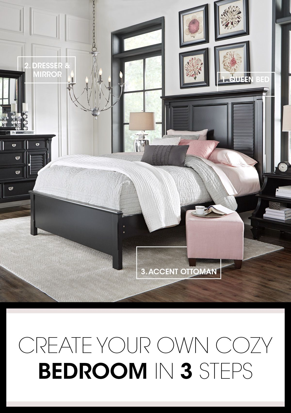 Discover The Key Pieces Of A Beautiful Bedroom With Our Belmar Room Break Down The Bed S Hardwood Solids And Veneers Shut Home Bedroom Sets Queen Home Bedroom