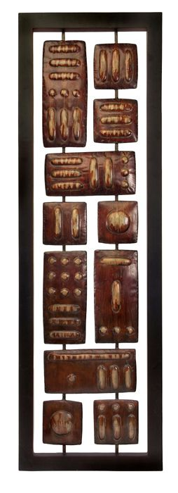 Rectangular Wall Art 60' rectangular wooden african geometric wall art panel