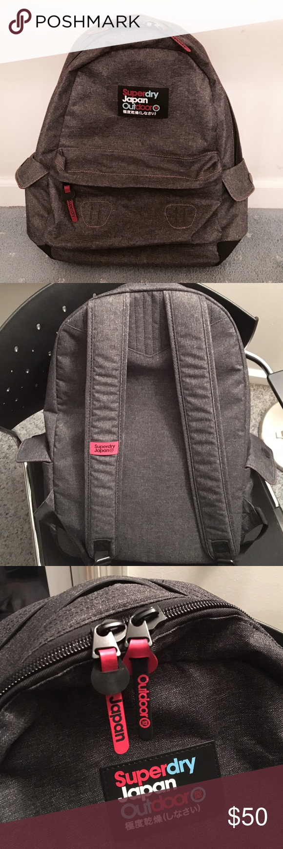 ad703dcf82 Superdry Japan Outdoor Waterproof Backpack Superdry Japan Outdoor  Waterproof Backpack. In like like-new condition. Purchased from a Superdry  shop in NYC.