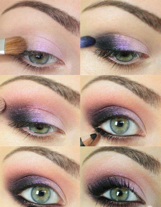 Grüne Augen Schminken Flieder Lidschatten Make Up Grüne Augen