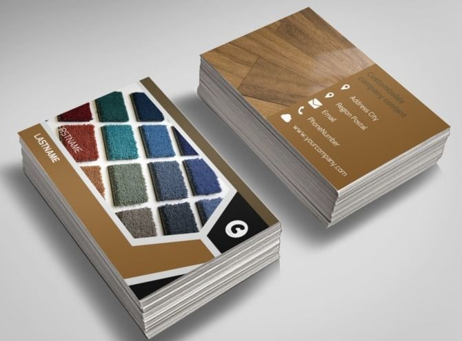 carpet hardwood flooring business card template - Flooring Business Cards