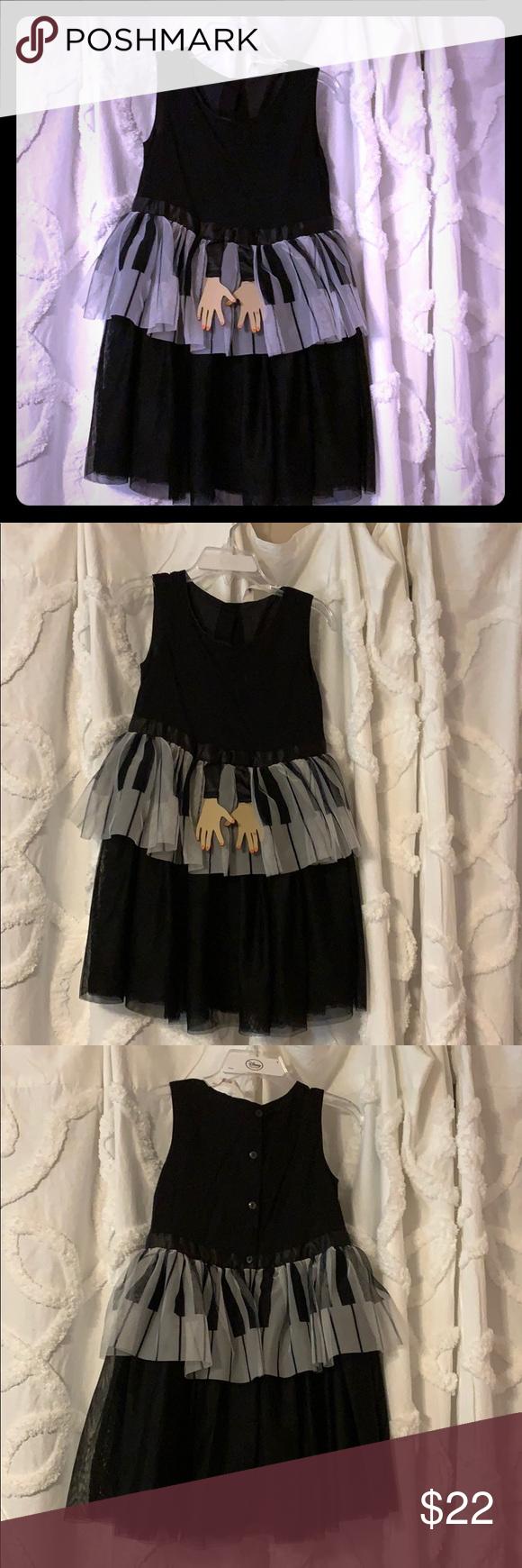 H M Girls Piano Dress 3t 4t Leather Accent 3t Dress Classic Black Dress Kids Dresses [ 1740 x 580 Pixel ]