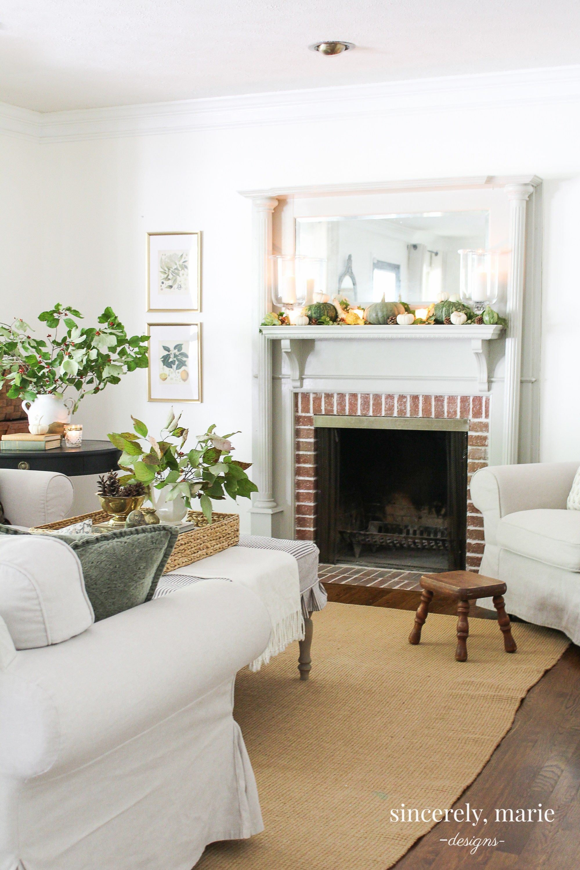 Seasonal simplicity fall home tour sincerely marie designs