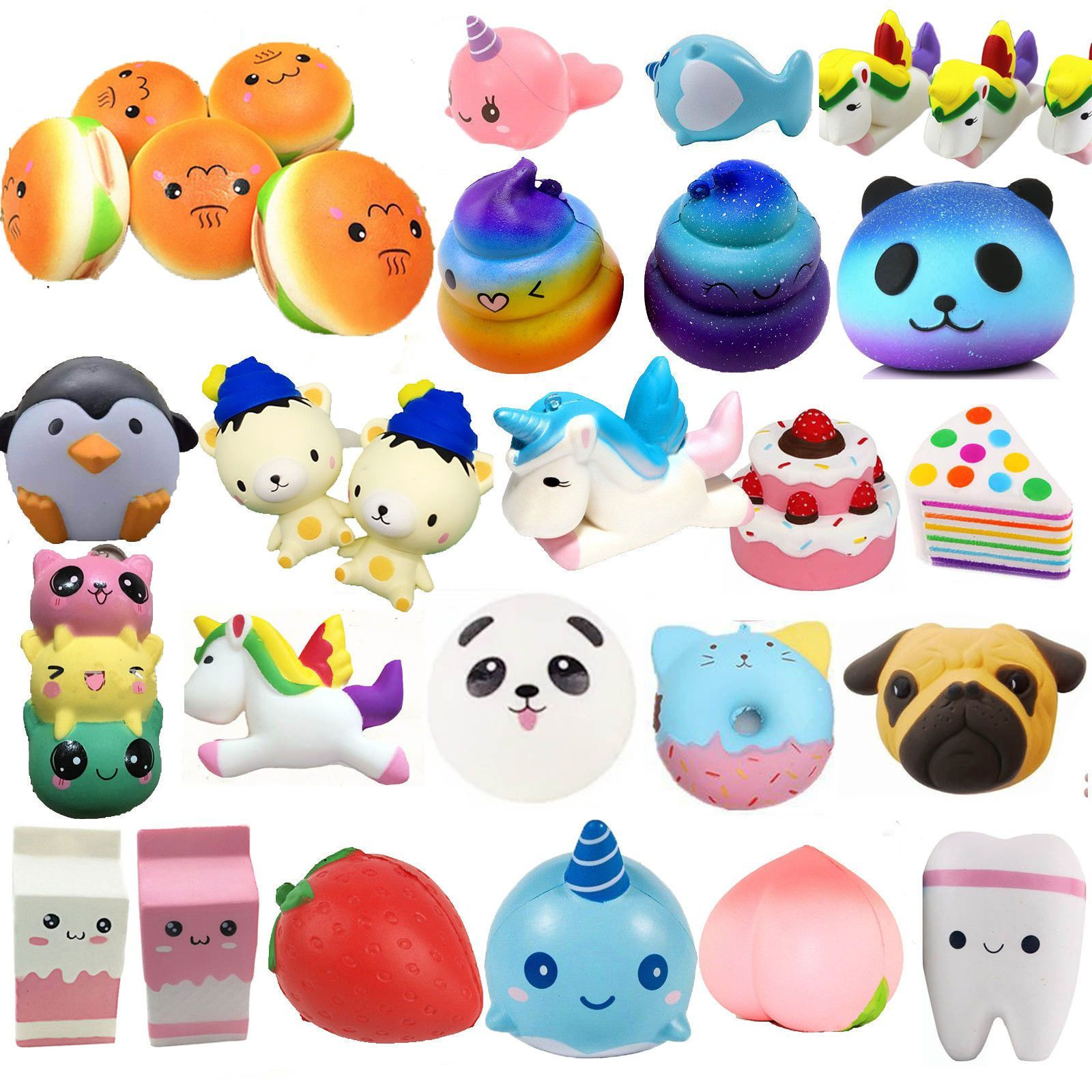 Jumbo Squishies Scented Charms Squishy Squeeze Slow Rising Toy Stress Reliever Panda Fan Shop ...