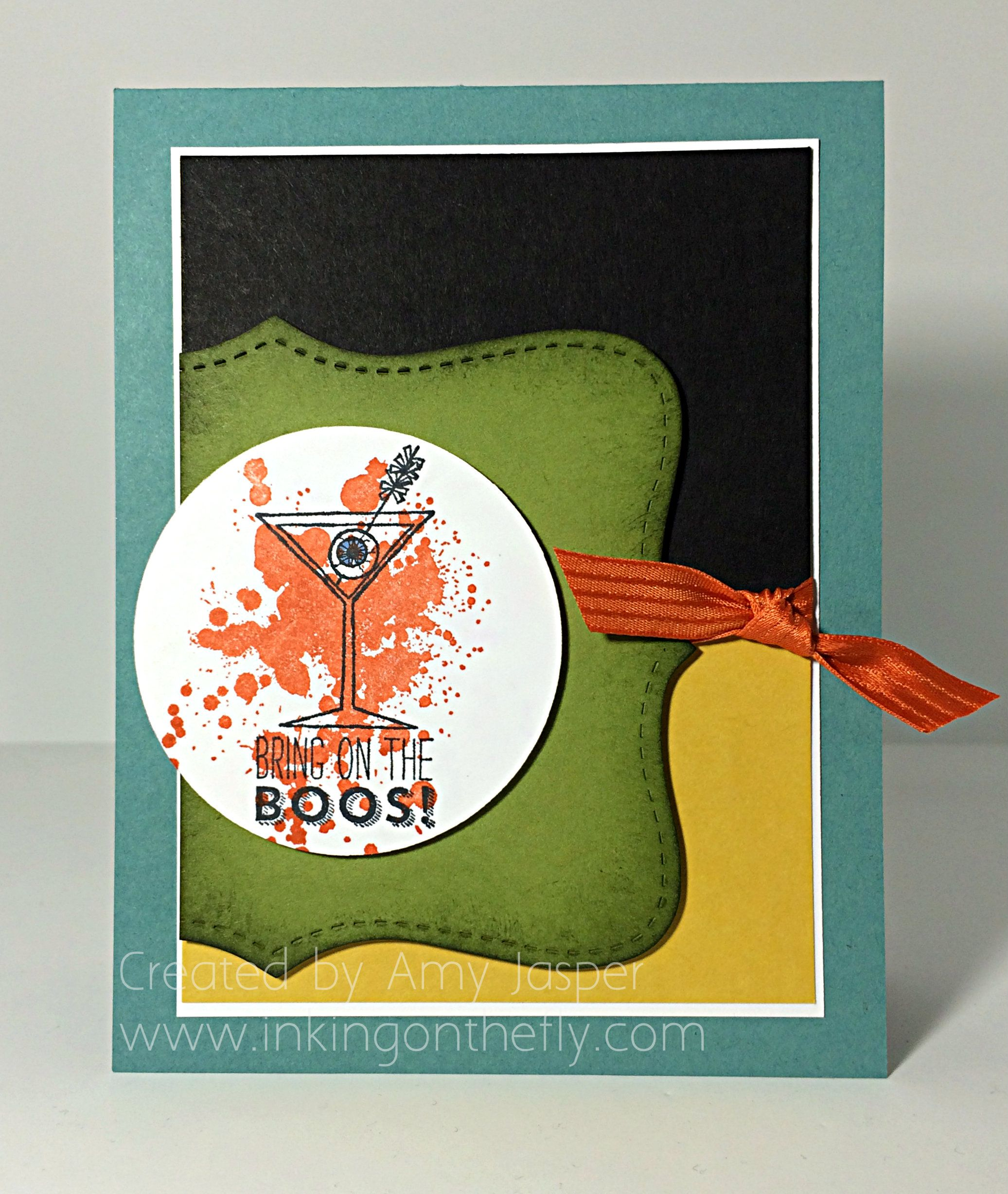 Fall Cheer card designed by Amy Jasper at www.inkingonthefly.com - using the Making Spirits Bright stamp set by Stampin' Up!
