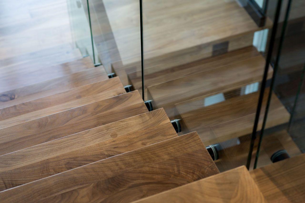 Walnut Stair Treads By Okanagan Hardwood Flooring Co. Ltd.