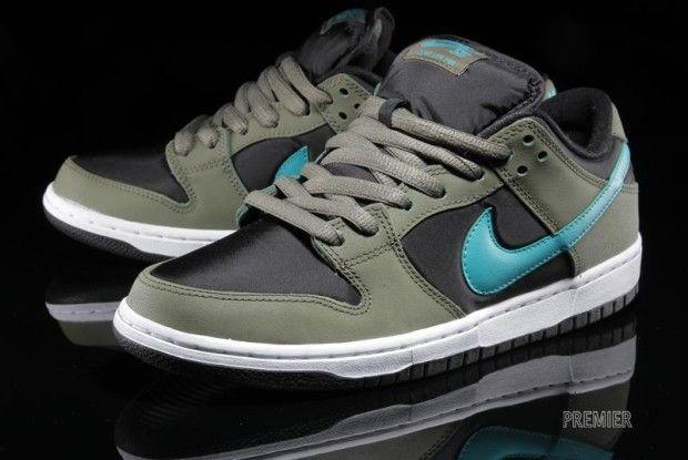 bb716ae6917ee7 Nike SB Dunk Low Pro Medium Olive   Turbo Green – Black ...