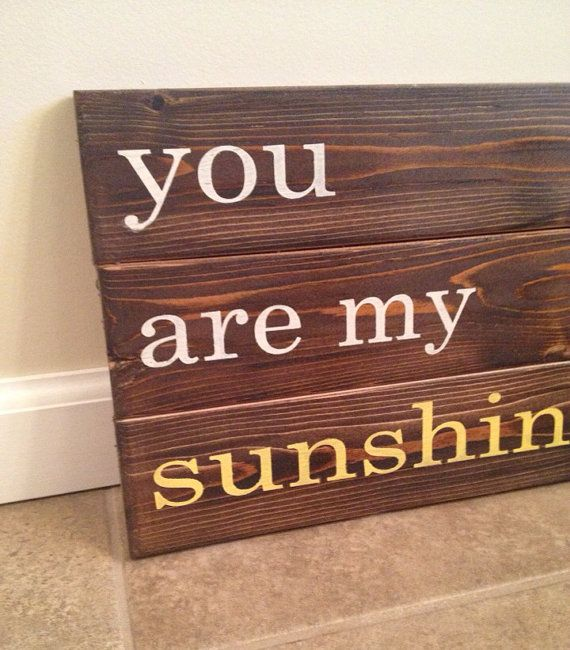 You Are My Sunshine Wood Wall Art By Mittenmadedesigns On Etsy