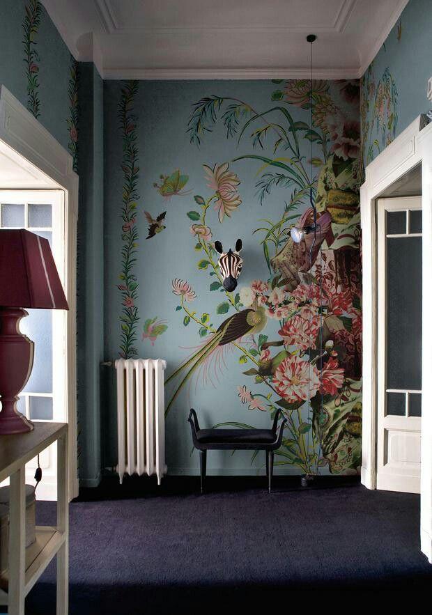 Bildergebnis Fur Schlafzimmer Blumentapete Dunkel Wall Deco Contemporary Wallpaper Mural Wallpaper