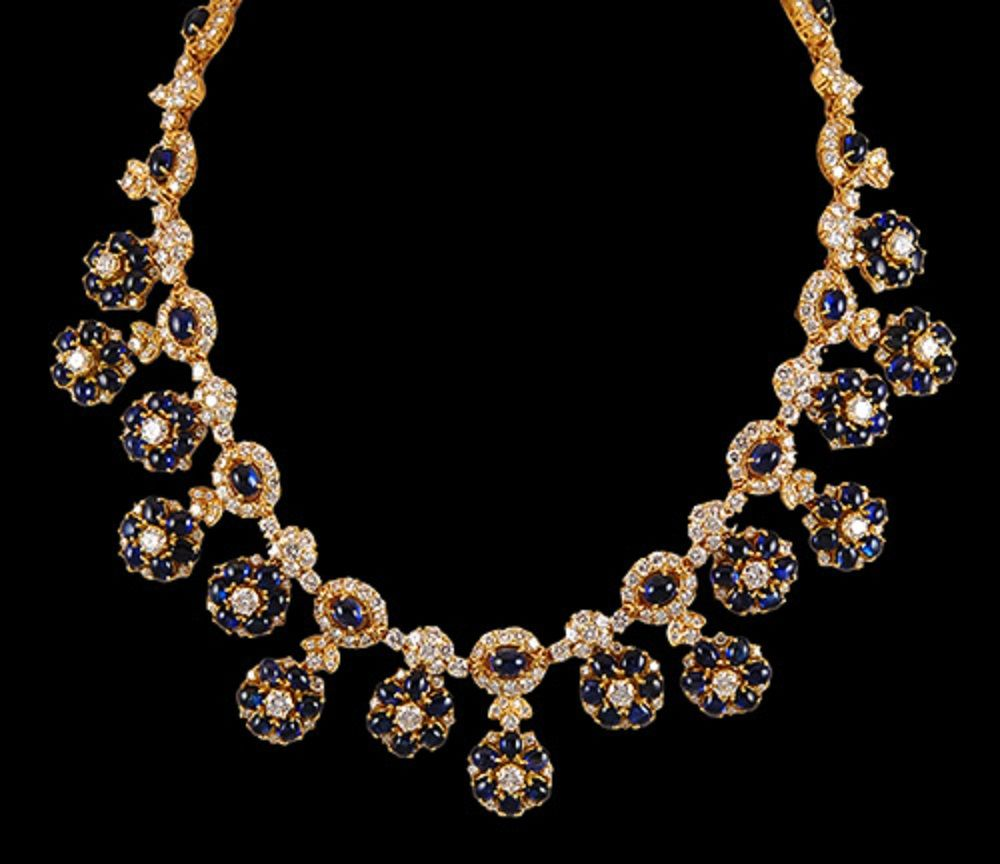 HARRY WINSTON Diamond & Sapphire Necklace