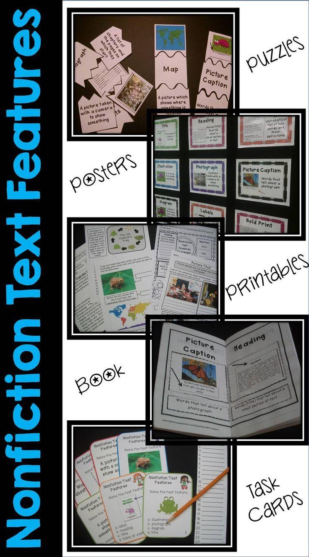 Nonfiction Text Features Bundle Nonfiction text features