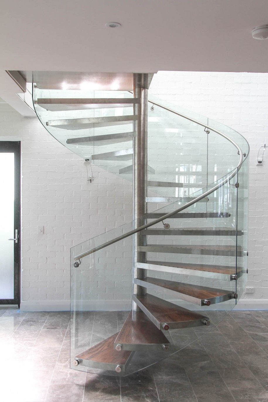 Astonishing Space Saving Staircase Design Ideas Appealing Enzie Space Saving Spiral Stairs With Tiles Flooring & Astonishing Space Saving Staircase Design Ideas: Appealing Enzie ...