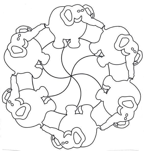 pin von vera a auf art with children  elmar elefant