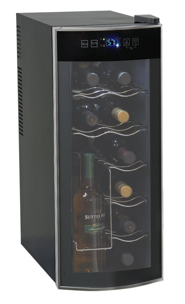 Wine Cellar Rack Cooler 12 Bottle Thermoelectric Countertop Storage Refrigerator Avanti Wine Wine Best Wine Refrigerator Wine Refrigerator Best Wine Coolers
