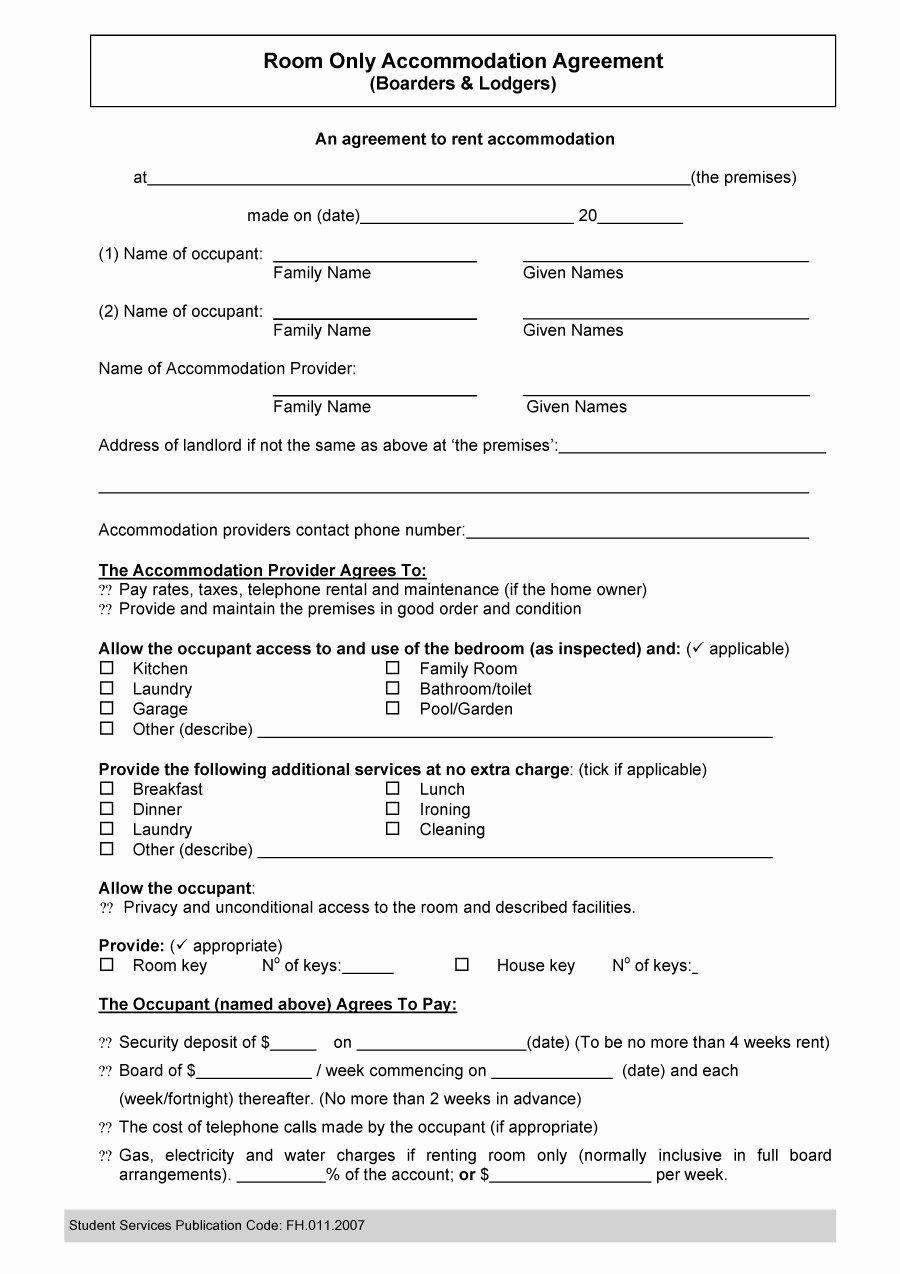 Ms word rental agreement template elegant 40 free roommate