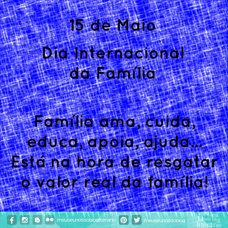 Dia Internacional Da Familia Dia Internacional Blog Literario