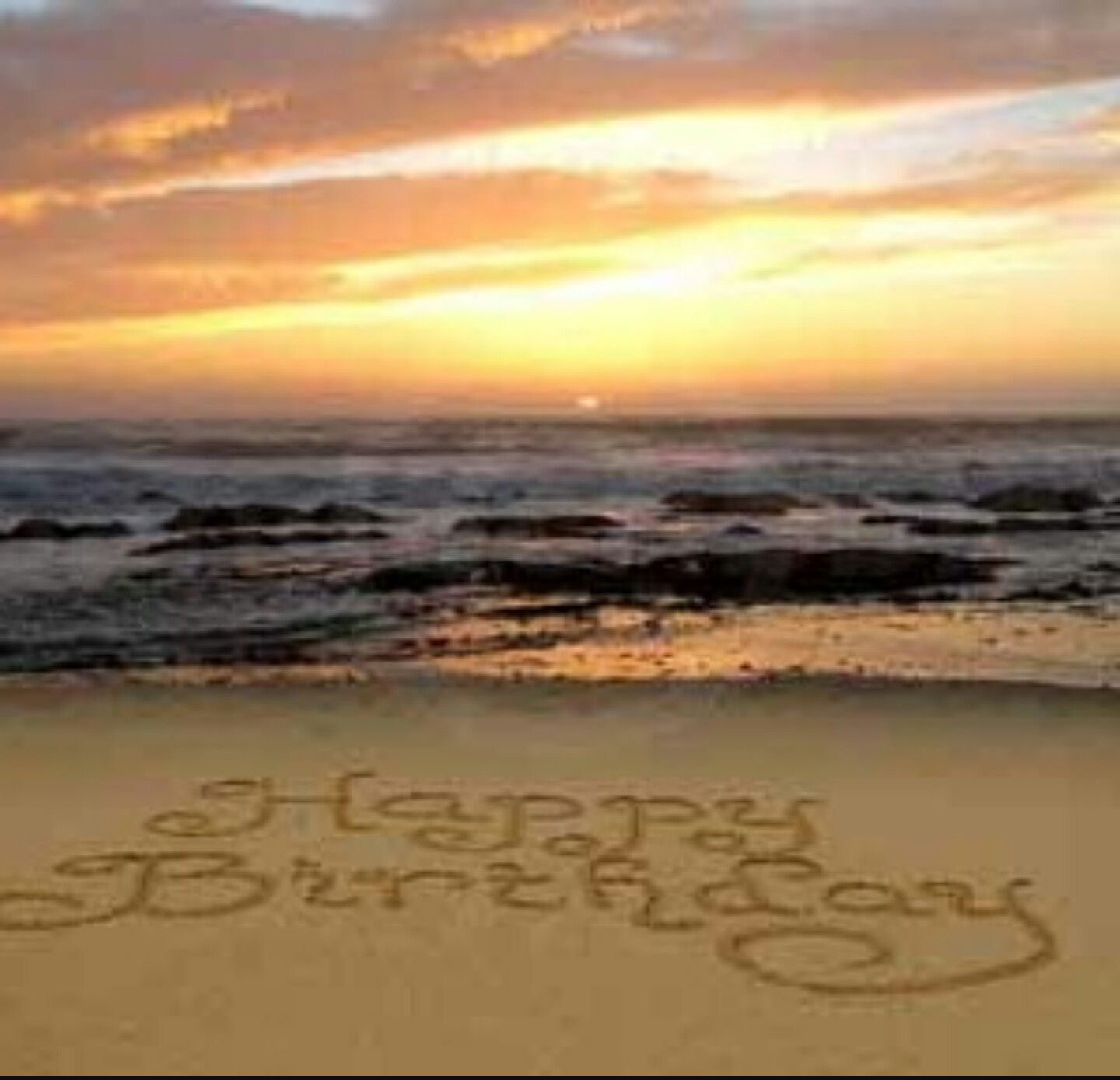 Hbd Beach Sunset With Images Happy Birthday Wishes Cards