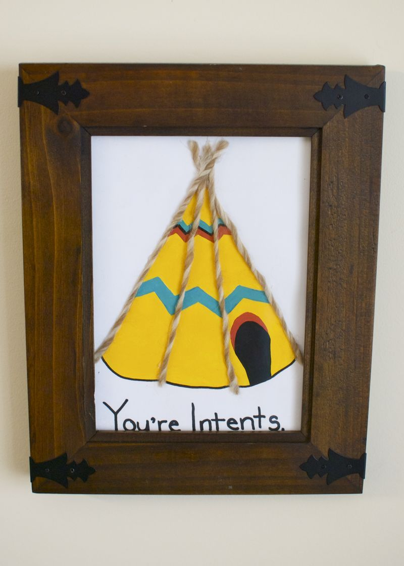 """""""You're Intents"""" pun-ny painted card for a special someone"""