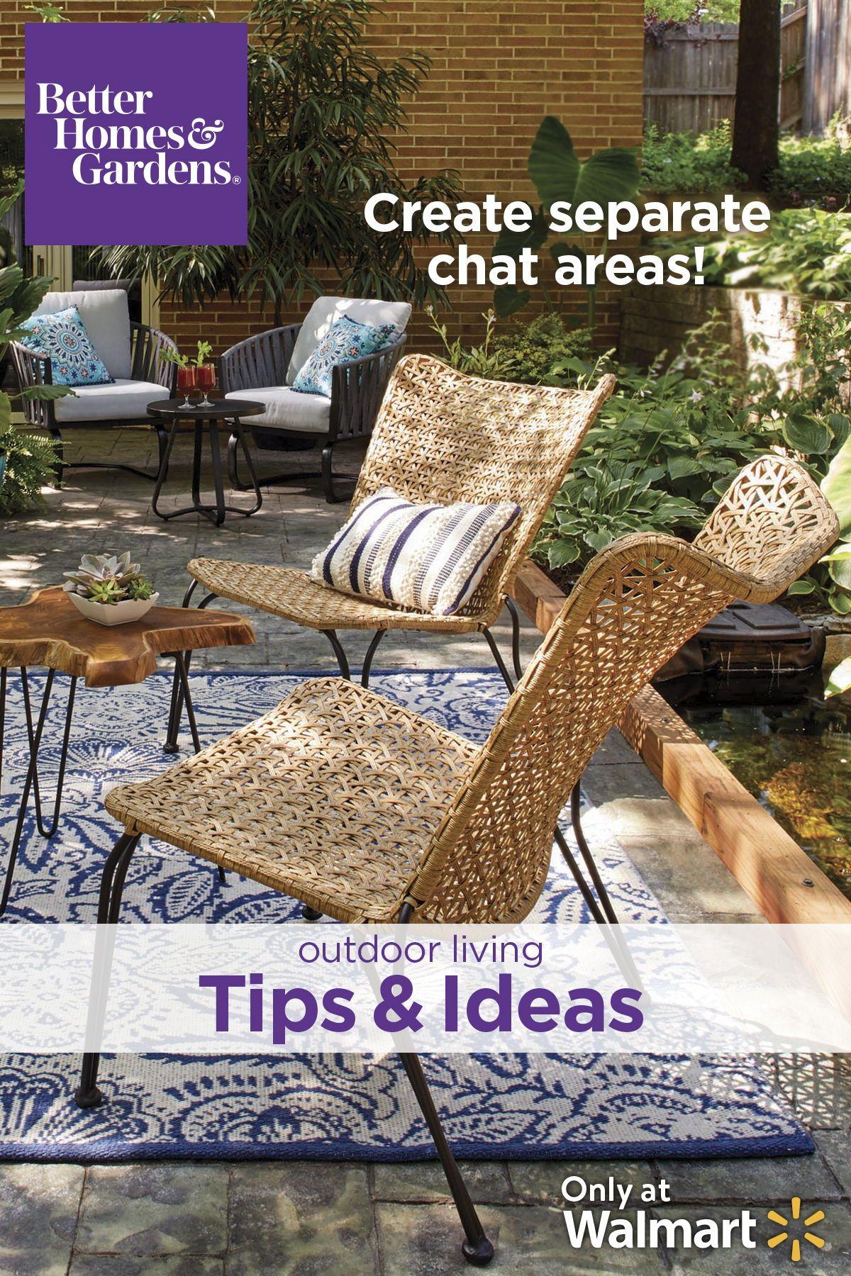 Better Homes Gardens Ambriz Stacking Wicker Chair Walmart Com Better Homes Gardens Outdoor Rooms Outdoor Living