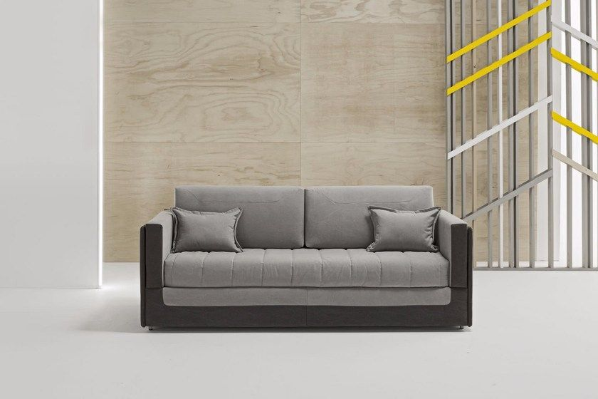 Upholstered 3 Seater Fabric Sofa Bed With Removable Cover Coupe By Dienne Salotti Fabric Sofa Fabric Sofa Bed Sofa