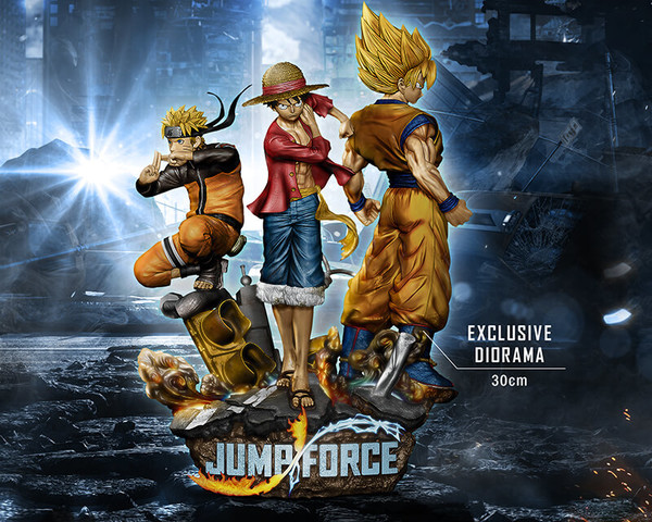 The time has come for naruto and luffy to go head to head as the biggest names in modern anime clash in jump force… Jump Force Monkey D Luffy Son Goku Ssj Uzumaki Naruto Diorama 1 8 Bandai Namco Entertainment Inc Megahou Bandai Namco Entertainment Bandai Naruto
