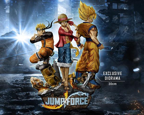 Jump Force Monkey D Luffy Son Goku Ssj Uzumaki Naruto Diorama 1 8 Bandai Namco Entert Bandai Namco Entertainment Naruto Naruto And Sasuke Wallpaper