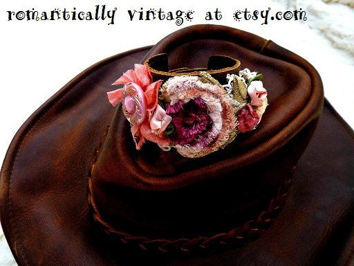 Check out this item in my Etsy shop https://www.etsy.com/listing/232871563/leather-bracelet-pink-flowers-handmade