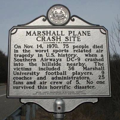 Marshall Plane Crash Site Huntington West Virginia West Virginia West Virginia History