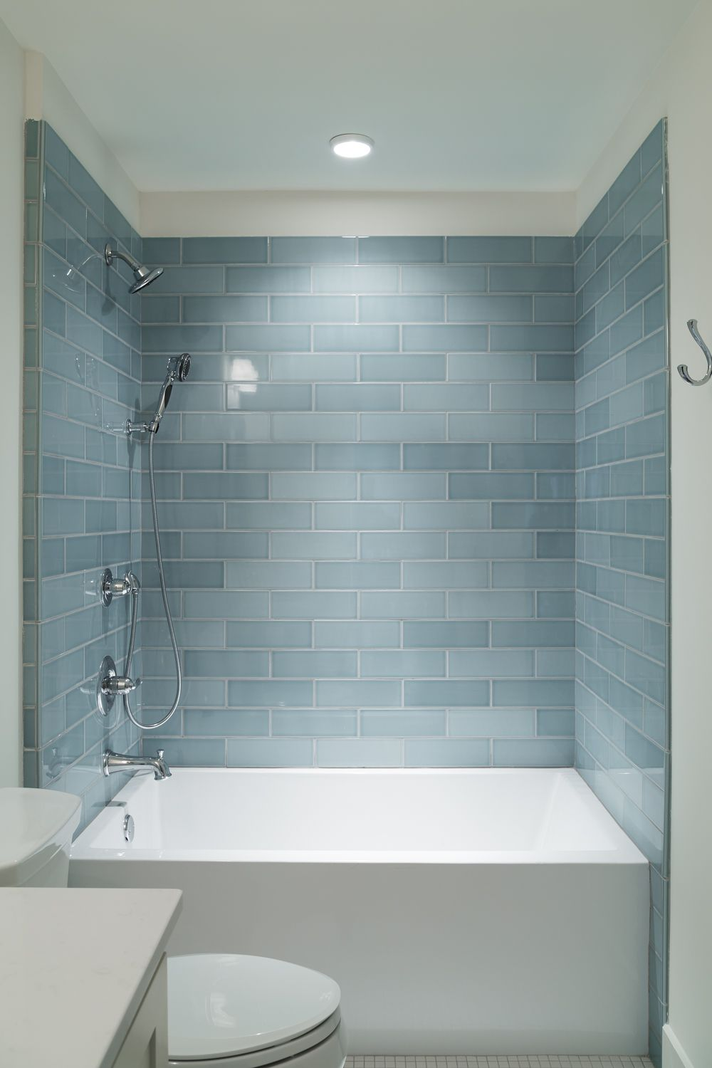 Blueish greyish subway tile | Willow Homes | TILE | Pinterest ...