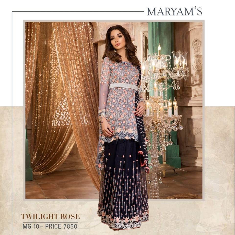a9e282f803 Maryam's Gold Embroidered Chiffon Collection 2018 - PK Vogue | 1000 ...