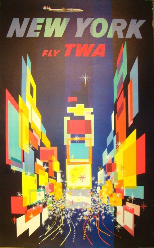 travel poster by David Klein (1950's)