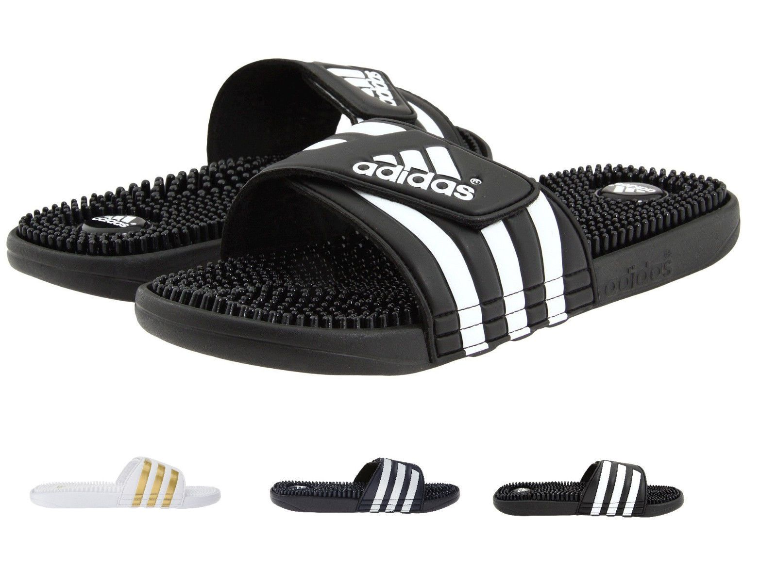 b6aa550a23a fashion Mens Adidas Adissage Black Slides Shower Athletic Sport Sandals  078260 Size 7-15