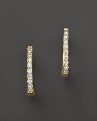 4ad67d8cce1fea Roberto Coin 18K Yellow Gold Baby Diamond Huggie Hoop Earrings    Bloomingdale's reg price $880