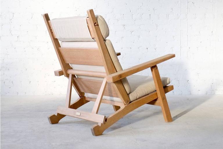 Hans Wegner Ap72 Ap Stolen Oak Lounge Chair And Ottoman Danish
