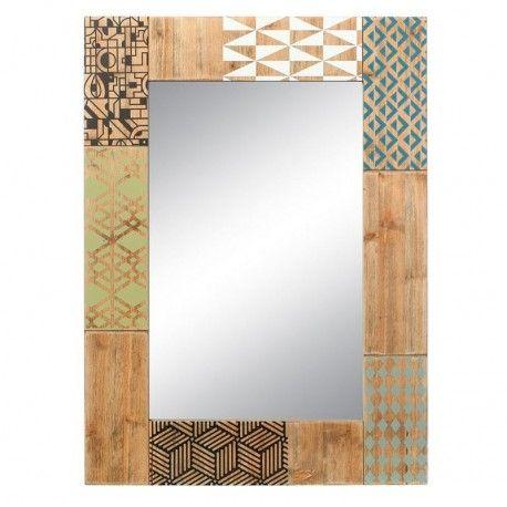 Espejo original modelo harper marco de madera de abeto for Espejo marco madera natural