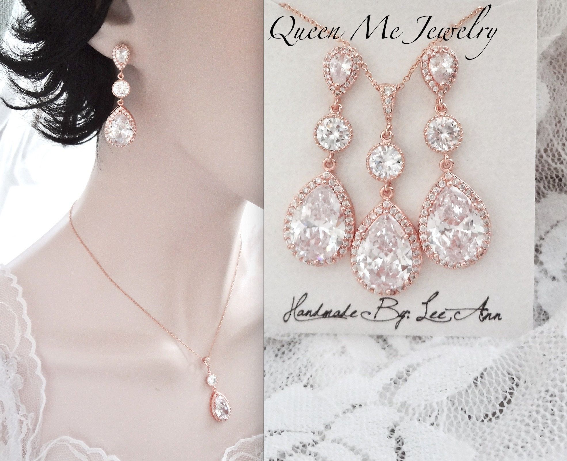 Wedding Bracelet Earrings set Zirconia Leaf Bracelet Earrings Wedding Jewelry Rose gold Bridal Bracelet set Bridesmaid Bracelet Gifts Fay