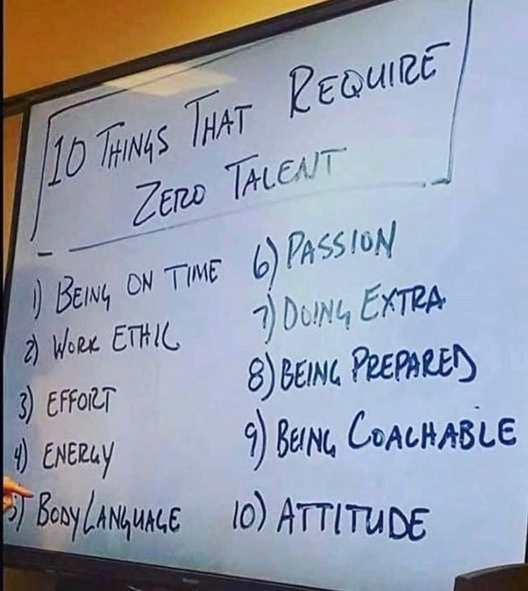 10 Things That Require No Talent Positive Quotes Motivation