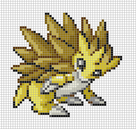Sandslash Pixel Art Template By Dragon44836 On Deviantart