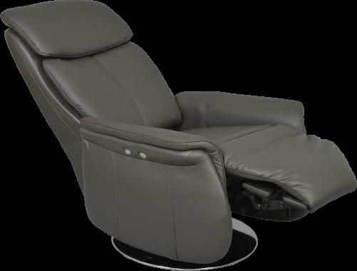 Nouveau coloris cuir gris pour l élégant fauteuil relax électrique