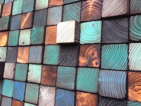 Wood Wall Art - Wood Art - Reclaimed Wood Art Reciclar arte, Pared - pared de madera