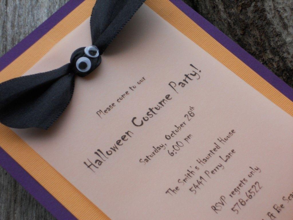 Homemade Invitation Ideas | Pinterest | Halloween ideas and Birthdays