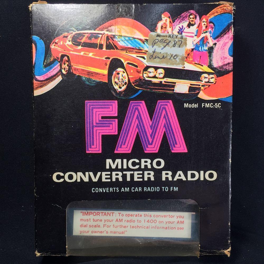 Details about VINTAGE Classic Car Audiovox FM Converter
