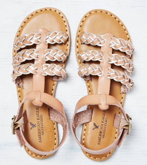 06de954fb Natural AEO Strappy Braided Sandal