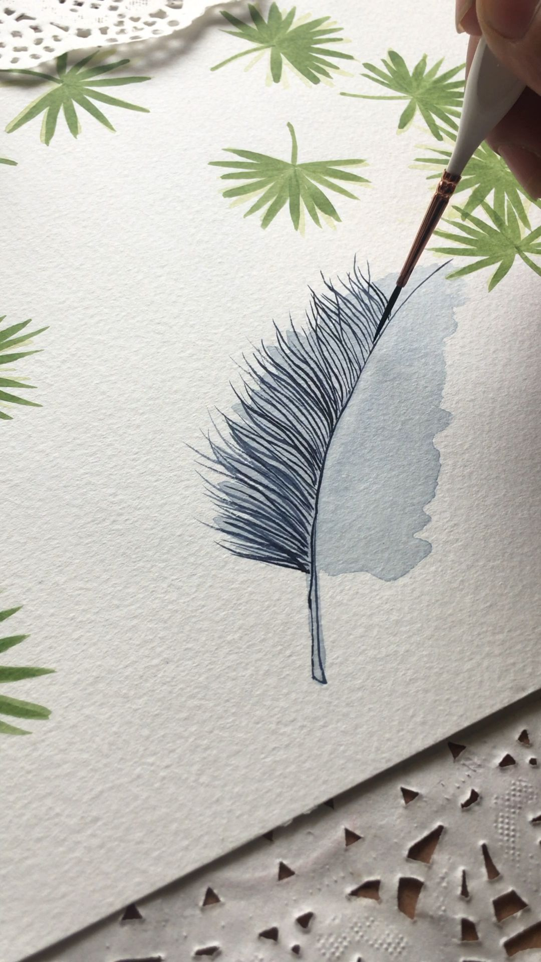 Photo of Feather painting