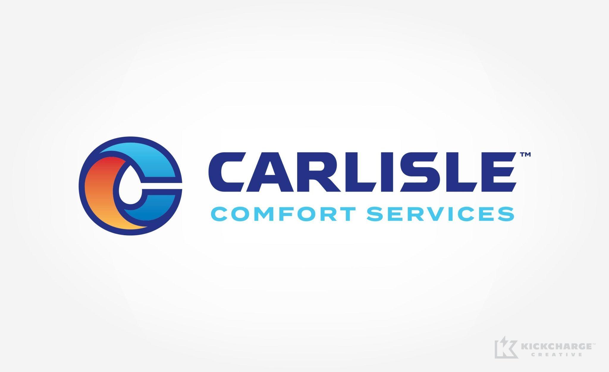 Carlisle Comfort Services Kickcharge Creative Plumbing Logo Plumbing Logo Design Hvac Brands